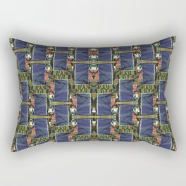 Cool Woven Blue Rectangular Pillow