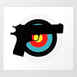 Pistol Target Art Print