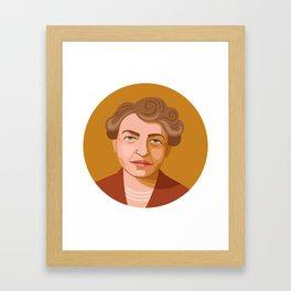 Queer Portrait - Eleanor Roosevelt Framed Art Print