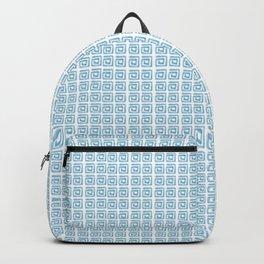 Greek pattern blue  Backpack