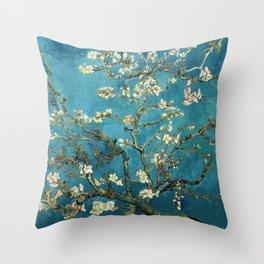 Blossoming Almond Trees, Vincent van Gogh. Famous vintage fine art. Throw Pillow