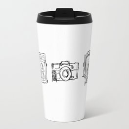 Vintage Camera Line Drawing Travel Mug