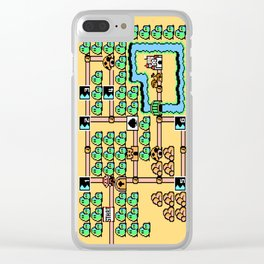 Super Mario Bros 3 World 1 Clear iPhone Case