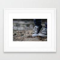 converse Framed Art Prints featuring Converse by AJ Calhoun