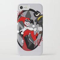 harley quinn iPhone & iPod Cases featuring Harley Quinn by Jordi Hayman Design