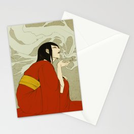 volcano -day version- Stationery Cards