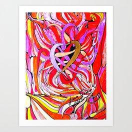 LUCHA DE PODER Art Print