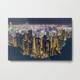 Hong Kong by Metal Print