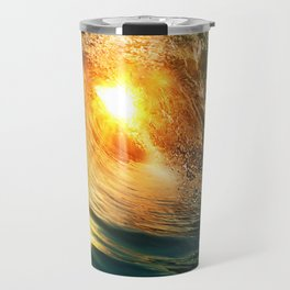 Beach - Wave - Sun - Sunset - Sundown - Ocean Travel Mug