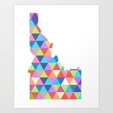 Idaho Colorful Triangles  Art Print