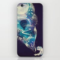 dreamer iPhone & iPod Skins featuring Dream Big by dan elijah g. fajardo