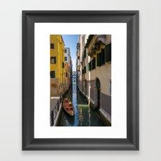 Boat in Venice Framed Art Print