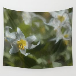 Avalanche Lily Painterly Wall Tapestry