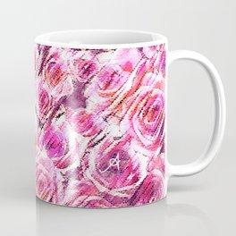 Textured Roses Pink Amanya Design Coffee Mug