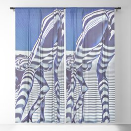 9244-KMA_5206 Sexy Blue Striped Nude Bending Down Looking Back Sheer Curtain