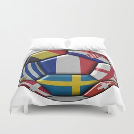 Russia 2018 - football ball with various flags Duvet Cover