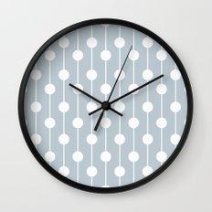 BlueGray Lined Polka Dot Wall Clock