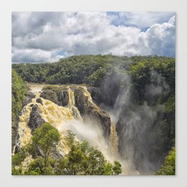 Beautiful wild waterfall Canvas Print