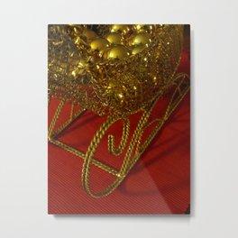 Shiny Baubles Metal Print
