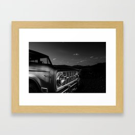 Early Bronco Black and White Framed Art Print