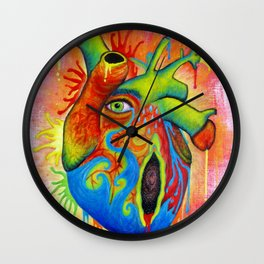 Hurting heart Wall Clock