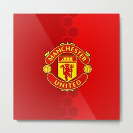 Manchester United Red Metal Print