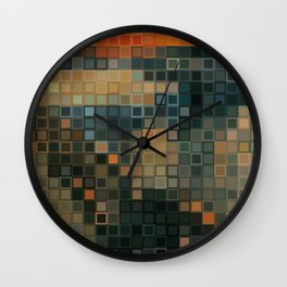THE SCREAM Low Res Homage  Wall Clock
