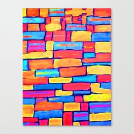 """""""Building a Colorful World"""" Canvas Print"""