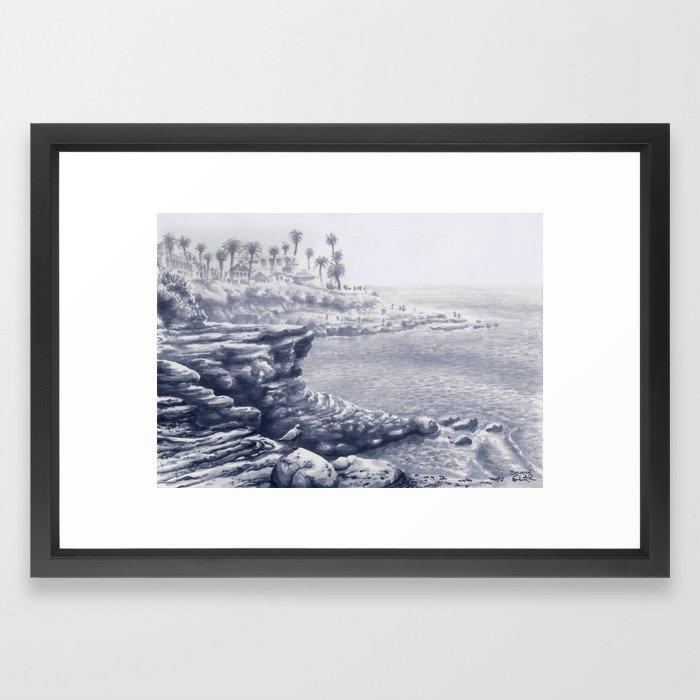 La Jolla Cliffs Framed Art Print