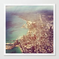 chicago Canvas Prints featuring Chicago by lizzy gray kitchens