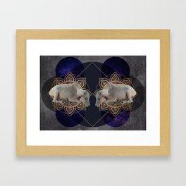 Inde Cosmologique I Framed Art Print