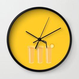 Orange juices Wall Clock