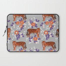 Tigers orange and purple clemson football varsity university college sports fan gifts Laptop Sleeve