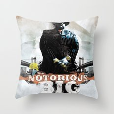 Notorious B.I.G Throw Pillow