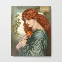 Proserpine Oil Painting Metal Print