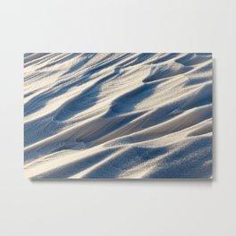 Snowdrifts, the field in winter Metal Print