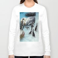 penguins Long Sleeve T-shirts featuring Penguins. by paulette hurley