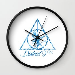 District 9 3/4 Wall Clock