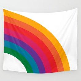 Retro Bright Rainbow - Right Side Wall Tapestry