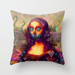 MONSTER LISA Throw Pillow