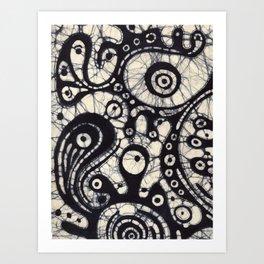 Abstract Batik 2 Art Print