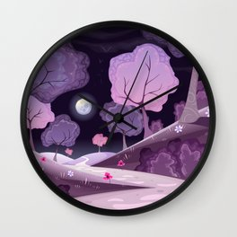 Violet Moon Wall Clock