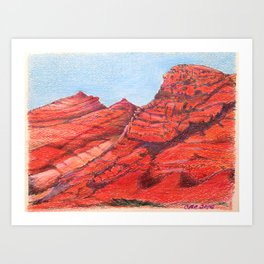 Red Clay Mountain By Catherine Coyle Art Print
