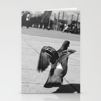 pigeon Stationery Cards featuring Pigeon by Mark Spence
