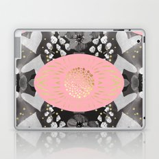 Abstract flowers pink and gold 2 Laptop & iPad Skin