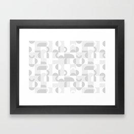 Gray Domio Mosaic (Landscape) Framed Art Print