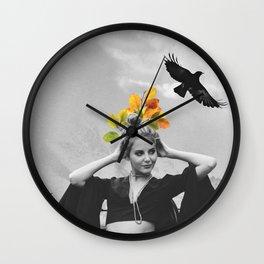 CROW GIRL Wall Clock
