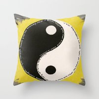 religion Throw Pillows featuring Science & Religion by Lady Pai