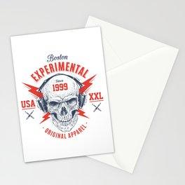 bad skull Stationery Cards