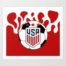 United States Soccer Art Print